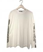CDG(シーディージー)の古着「CDG袖プリントロゴロングスリーブTシャツ」 ホワイト