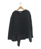 LE PHILL(ル フィル)の古着「カシミアタッチ裏毛プルオーバー」|ブラック