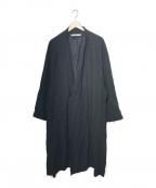 "SASQUATCHfabrix.(サスクワッチファブリックス)の古着「""KINPAKU"" DROP SHOULDER COAT」|ブラック"