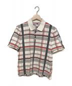 MONCLER(モンクレール)の古着「19S/S チェックポロシャツ」|ホワイト