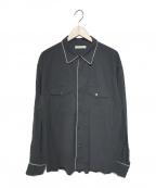 OLD JOE & Co.(オールドアンドジョー)の古着「PIPING CLUB SHIRTS」|ブラック