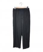 Dulcamara(ドゥルカマラ)の古着「21S/S ウールよそいきセンタープレスイージーパンツ」 ブラック