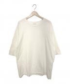 INSCRIRE(アンスクリア)の古着「21S/S ロイヤルオーガニックコットンクルーネックTシャツ」|ホワイト