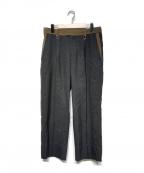 KOLOR(カラー)の古着「ウールワイドパンツ」|グレー