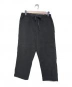 CASEY CASEY(ケーシーケーシー)の古着「コットンイージーパンツ」 ブラック