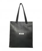 MSGM(エムエスジーエム)の古着「logo print shoulder bag」|ブラック