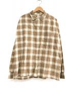 ()の古着「チェックシャツ」 ブラウン