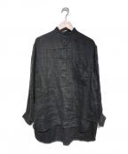COMOLI(コモリ)の古着「20S/S リネンダブルクロスプルオーバーシャツ」|グレー