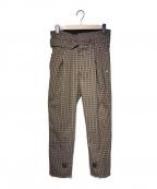 BED J.W. FORD(ベッドフォード)の古着「19S/S HIGH WAIST PANTS」|ブラウン