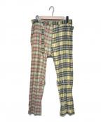 PHINGERIN(フィンガリン)の古着「20S/S BONTAGE PANTS PATCH」|イエロー