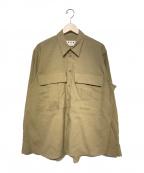 MARNI(マルニ)の古着「18S/S オーバーサイズシャツ」|ベージュ