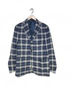 DEPETRILLO(デペトリロ)の古着「リネンチェックジャケット」|ブルー