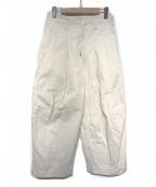 SHINYA KOZUKA(シンヤコズカ)の古着「HIGH DENSITY TWILL BAGGY PANTS」|ホワイト