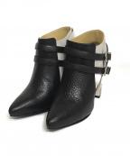 TOGA PULLA(トーガプルラ)の古着「メタルモチーフ ショートブーツ」 ホワイト×ブラック