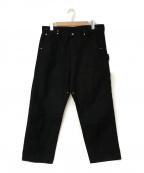 COMOLI(コモリ)の古着「21S/S コットンダックペインターパンツ」|ブラック