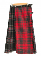 O'NEIL OF DUBLIN(オニールオブダブリン)の古着「チェックスカート」 ブラック