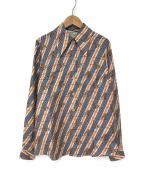 GUCCI()の古着「キリン柄シルクシャツ」|アイボリー