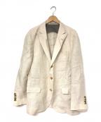 BRUNELLO CUCINELLI(ブルネロクチネリ)の古着「リネンジャケット」 ベージュ