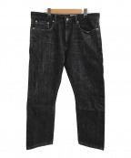 NEIGHBORHOOD(ネイバーフッド)の古着「17AWストレートデニムパンツ」|ブラック