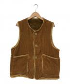 Engineered Garments(エンジニアドガーメンツ)の古着「18A/W Over Vest-8w Corduroy」 ブラウン