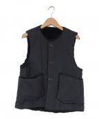 Engineered Garments(エンジニアドガーメンツ)の古着「Over Vest-Heavyweight Cotton R」 ネイビー