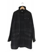 ()の古着「Flannel Check Pocket coat」|ネイビー