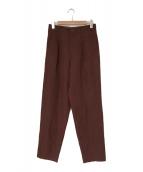 ()の古着「90sオールドタックパンツ」|ブラウン