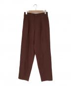 ISSEY MIYAKE(イッセイミヤケ)の古着「90sオールドタックパンツ」|ブラウン