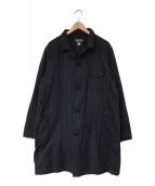 ()の古着「French Stripe Shop coat」 ネイビー
