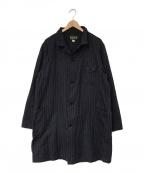 ORGUEIL(オルゲイユ)の古着「French Stripe Shop coat」|ネイビー