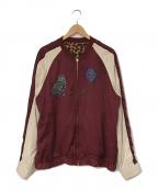BRU NA BOINNE(ブルーナボイン)の古着「リバーシブルスカジャン」|レッド