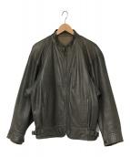 ()の古着「80's レザーライダースジャケット」 グレー