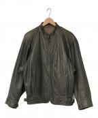 ISSEY MIYAKE(イッセイミヤケ)の古着「80's レザーライダースジャケット」|グレー