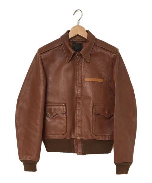 J.A.DUBOW(ジェイエードュボウ)J.A.DUBOW (ジェイエードュボウ) A-2フライトジャケット ブラウン サイズ:38の古着・服飾アイテム