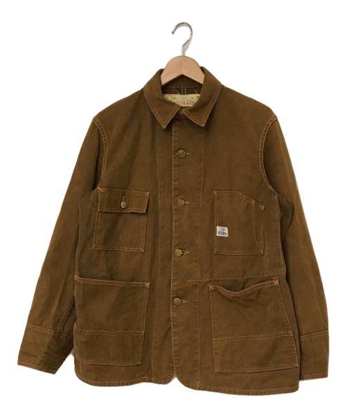 Joe McCOY(ジョーマッコイ)Joe McCOY (ジョーマッコイ) 8HOUR UNION カバーオール ブラウン サイズ:36の古着・服飾アイテム