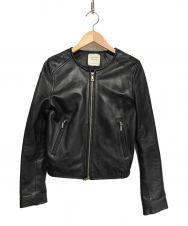 UNITED TOKYO (ユナイテッドトウキョウ) ノーカラーシングルライダースジャケット ブラック サイズ:1