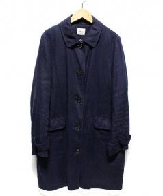 NIMES(ニーム)の古着「リネンコート」|ネイビー