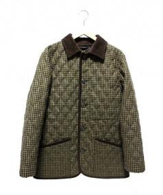 MACKINTOSH LONDON(マッキントッシュ ロンドン)の古着「キルティングコート」|ブラウン×ベージュ
