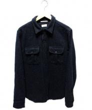 APOLIS(アポリス)の古着「スナップボタンウールシャツ」|ブラック