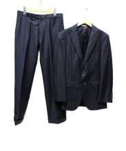 SABI SABI DELUXE(サビサビデラックス)の古着「2Bセットアップスーツ」|ブルー×ブラック