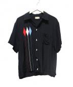 Dry Bones(ドライボーンズ)の古着「半袖ボウリングシャツ」 ブラック