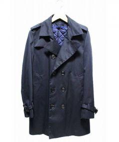 Paul Smith London(ポールスミスロンドン)の古着「ライナー付トレンチコート」|ネイビー