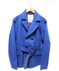 KATO(カトウ)の古着「Pコート」 ブルー