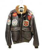 AVIREX(アヴィレックス)の古着「G-1レザージャケット」|ブラウン