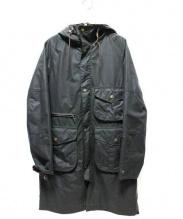 Barbour × White Mountaineering(バブアー×ホワイトマウンテニアリング)の古着「コラボフーデッドビデイルコート」 ブラック