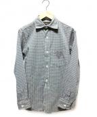 FREEWHEELERS(フリーホイーラーズ)の古着「スプレッドカラー長袖シャツ」|グリーン