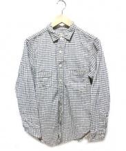 BOOTLEGGERS(ブートレガーズ)の古着「シャツ」|ブルー×ベージュ