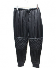DRAWER(ドゥロワー)の古着「中綿シルクバイカージョガーパンツ」 ブラック