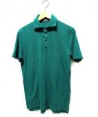 Cruciani(クルチアーニ)の古着「鹿の子半袖ポロシャツ」|グリーン