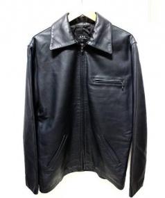 A.P.C.(アーペーセー)の古着「ジップレザージャケット」|マットブラック